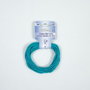 Dazzle-It Blue Turquoise Cotton Wax Cord - 1.5mm