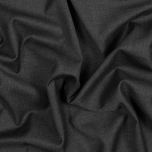Charcoal Super 120 Merino Wool Twill/Suiting