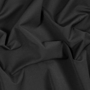 Black Stretch Cotton Suiting