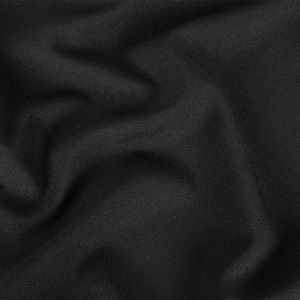 Black Stretch Polyester Suiting
