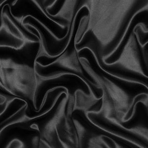 Black Satin with Midnight Navy Backing