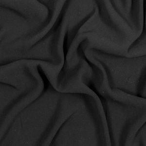 Black Creped Polyester Georgette with Give