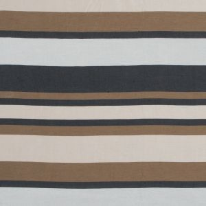 Spiced Latte Barcode Striped Rayon Shantung