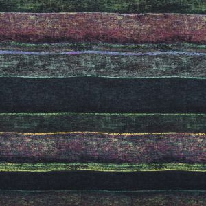 Green and Fuchsia Abstract Printed Paneled Wool Twill