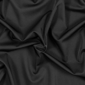 Sleek Black Stretch Polyester Suiting