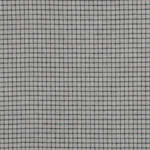 Black and Beige Graph Check Linen Woven
