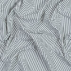 Theory Light Slate and White Striped Polyester Shirting