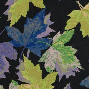 Purple, Blue and Green Leafy Novelty Jacquard