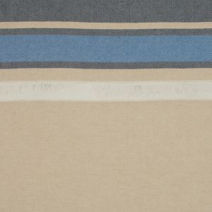 Sea NY Navy and Gilded Beige Striped Cotton Canvas