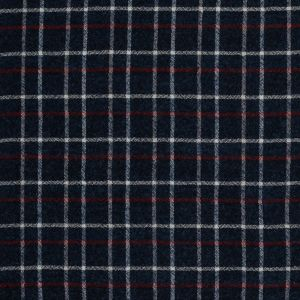 Sea NY Italian Red, White and Blue Plaid Wool Blend