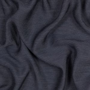 Sea NY Navy and Ivory Pinstriped Silk and Cotton Voile