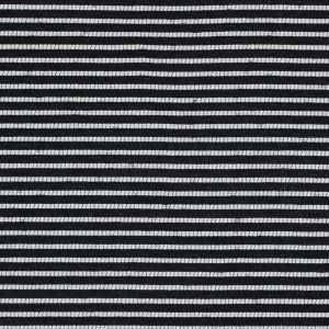 Sea NY Black and White Striped Loosely Woven Cotton Blend