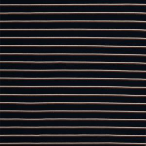Navy, Creme and Tan Shadow Striped Brushed Fleece