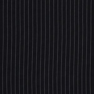 Midnight Blue and White Pinstriped Wool Shirting