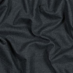 Charcoal Stretch Twill Wool Suiting