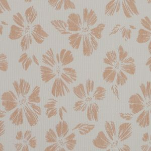 Beige and White Stretch Floral Houndstooth Brocade