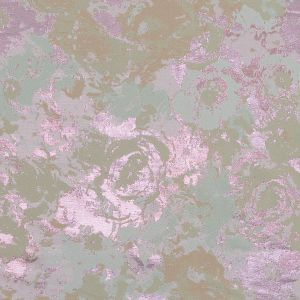 Beige, Pista Green and Metallic Pink Abstract Jacquard