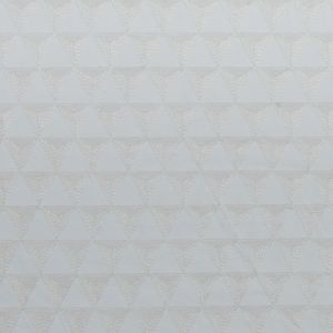 White Geometric Embroidered Faux Leather