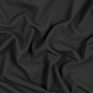 Black Textural Crepe with Smooth Backing