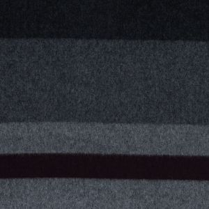 Black, Gray and Burgundy Wide Striped Wool Coating