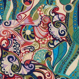 Multicolor Paisley Printed Quilted Cotton Woven with Filler