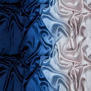 Estate Blue and Cradle Pink Ombre Silk Charmeuse