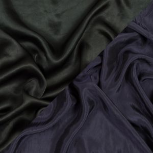 Forest Green and Shale Purple Double Faced Lining