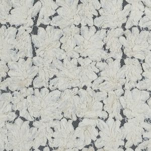 Beige 3D Abstract Floral Lace