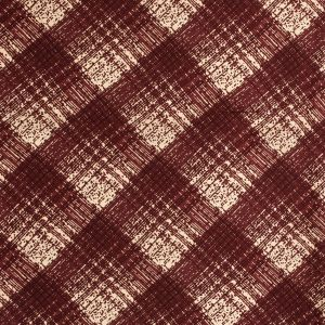 Famous NYC Designer Rustic Red Abstract Plaid Silk Twill