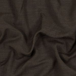 Muted Brown Creped Wool Double Cloth
