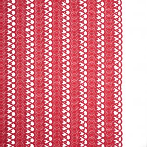 Flame Scarlet Red Geometric Guipure Lace