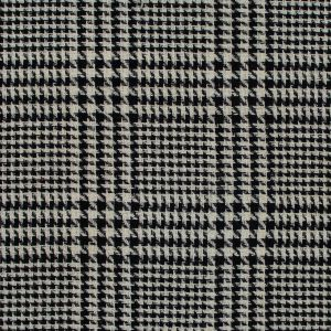 Black and Turtledove Glen Plaid Loosely Woven Wool