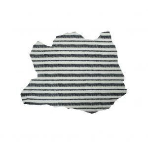 Phillip Lim Small Ivory and Black Striped Digitally Printed Lamb Leather