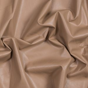 Tan Faux Suede Backed Faux Leather