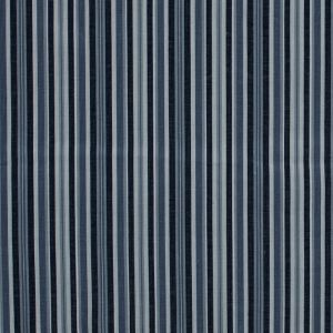 Navy and Light Blue Barcode Striped Cotton Corduroy