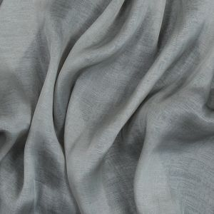 Silver and Pale Gray Silk Double Cloth Encasing Metallic Threads