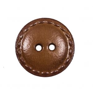 Brown Wood 2-Hole Button - 40L/25.5mm