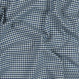 Green, White and Blue Tattersall Shepherd's Check Cotton and Tencel Flannel