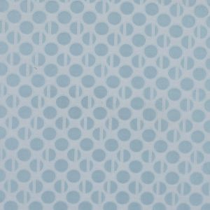 Light Blue and White Polka Dotted Jacquard