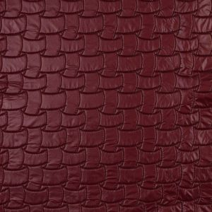 Red and Black Reversible Quilted Coating