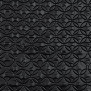 Black Reversible Geometric Quilted Coating
