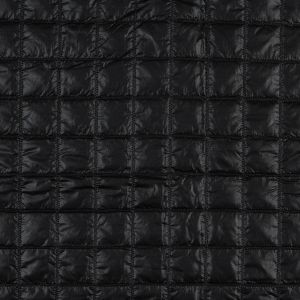 Black Large Square Quilted Coating