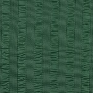Green Quilted Coating with Striped Ribs