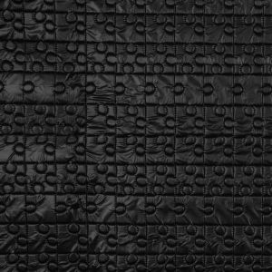 Black Puzzle Piece Quilted Coating