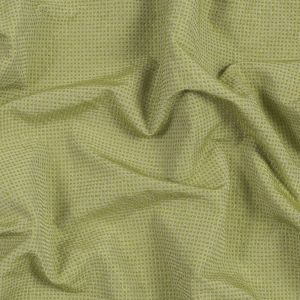 Chartreuse Checkered Polyester Wool Woven