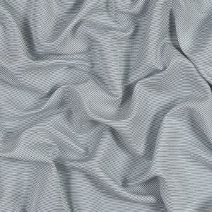 White and Gray Shadow Striped Silk and Cotton Woven