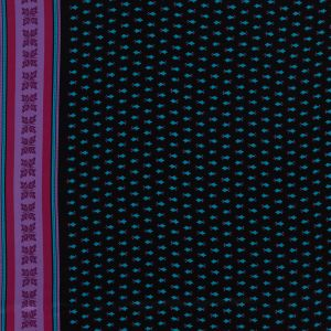 Famous NYC Designer Pink, Teal and Purple Printed Crepe de Chine Silk Panel