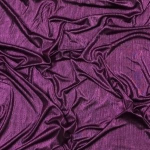 Metallic Magenta Textured All-Over Foil Knit