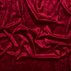 Red Stretch Crushed Velour