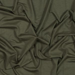 Olive Washed Rayon Jersey